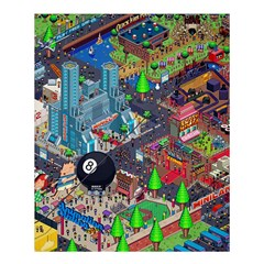 Pixel Art City Shower Curtain 60  X 72  (medium)