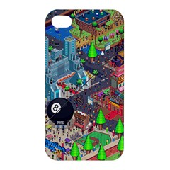 Pixel Art City Apple Iphone 4/4s Hardshell Case