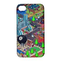 Pixel Art City Apple iPhone 4/4S Hardshell Case with Stand