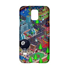Pixel Art City Samsung Galaxy S5 Hardshell Case