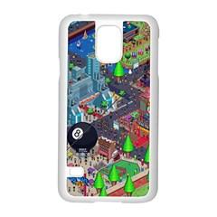 Pixel Art City Samsung Galaxy S5 Case (white)
