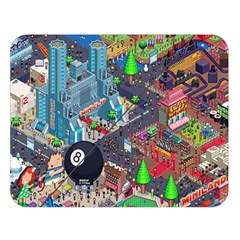 Pixel Art City Double Sided Flano Blanket (large)