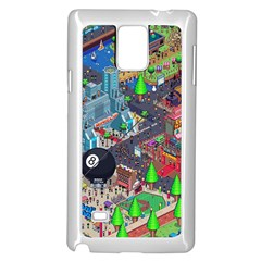 Pixel Art City Samsung Galaxy Note 4 Case (white)