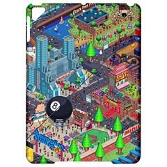 Pixel Art City Apple Ipad Pro 9 7   Hardshell Case