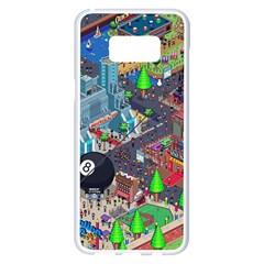 Pixel Art City Samsung Galaxy S8 Plus White Seamless Case