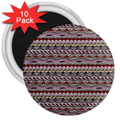 Aztec Pattern Patterns 3  Magnets (10 pack)