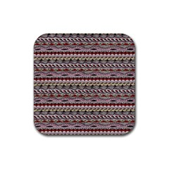 Aztec Pattern Patterns Rubber Square Coaster (4 pack)