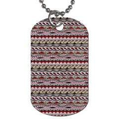 Aztec Pattern Patterns Dog Tag (One Side)