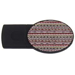 Aztec Pattern Patterns USB Flash Drive Oval (2 GB)