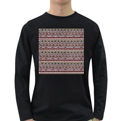 Aztec Pattern Patterns Long Sleeve Dark T Shirts
