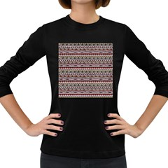 Aztec Pattern Patterns Women s Long Sleeve Dark T-Shirts