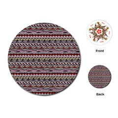 Aztec Pattern Patterns Playing Cards (Round)