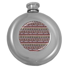 Aztec Pattern Patterns Round Hip Flask (5 Oz)