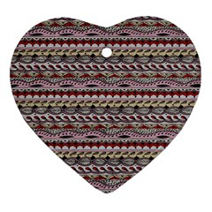 Aztec Pattern Patterns Heart Ornament (Two Sides)