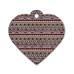 Aztec Pattern Patterns Dog Tag Heart (One Side)