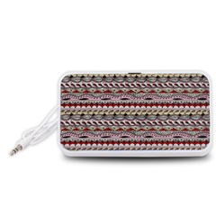 Aztec Pattern Patterns Portable Speaker (White)