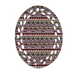 Aztec Pattern Patterns Oval Filigree Ornament (Two Sides)