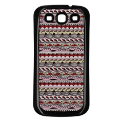 Aztec Pattern Patterns Samsung Galaxy S3 Back Case (black)
