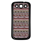 Aztec Pattern Patterns Samsung Galaxy S3 Back Case (Black) Front