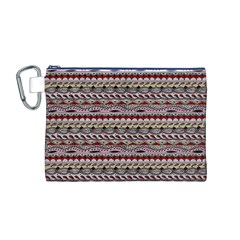 Aztec Pattern Patterns Canvas Cosmetic Bag (m)