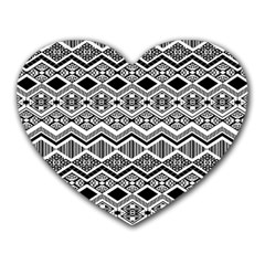 Aztec Design  Pattern Heart Mousepads