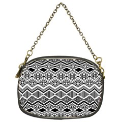 Aztec Design  Pattern Chain Purses (one Side)