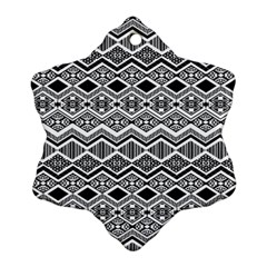 Aztec Design  Pattern Ornament (Snowflake)