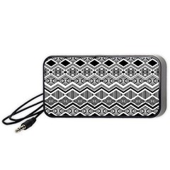 Aztec Design  Pattern Portable Speaker (Black)