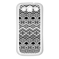 Aztec Design  Pattern Samsung Galaxy S3 Back Case (white)