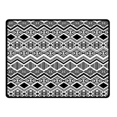 Aztec Design  Pattern Double Sided Fleece Blanket (small)