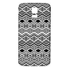 Aztec Design  Pattern Samsung Galaxy S5 Back Case (White)
