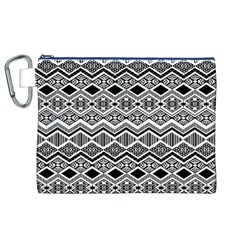 Aztec Design  Pattern Canvas Cosmetic Bag (xl)