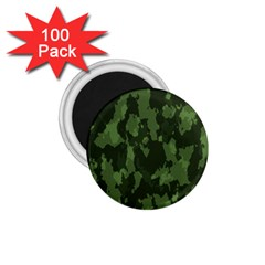 Camouflage Green Army Texture 1 75  Magnets (100 Pack)
