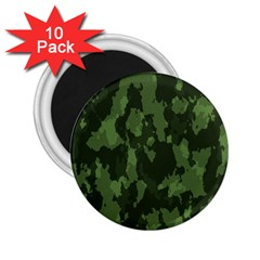 Camouflage Green Army Texture 2 25  Magnets (10 Pack)