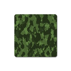 Camouflage Green Army Texture Square Magnet