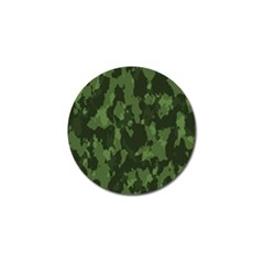 Camouflage Green Army Texture Golf Ball Marker