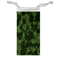 Camouflage Green Army Texture Jewelry Bag