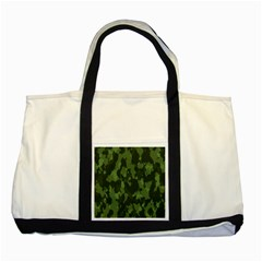 Camouflage Green Army Texture Two Tone Tote Bag