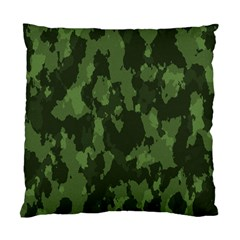 Camouflage Green Army Texture Standard Cushion Case (one Side)