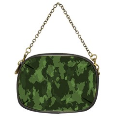Camouflage Green Army Texture Chain Purses (two Sides)