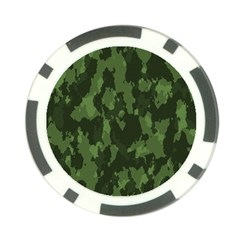 Camouflage Green Army Texture Poker Chip Card Guard (10 Pack)
