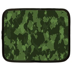 Camouflage Green Army Texture Netbook Case (XL)