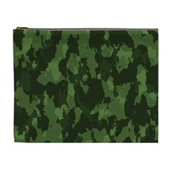 Camouflage Green Army Texture Cosmetic Bag (xl)