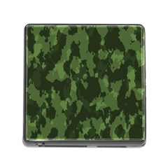 Camouflage Green Army Texture Memory Card Reader (square)