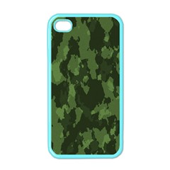 Camouflage Green Army Texture Apple iPhone 4 Case (Color)