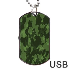 Camouflage Green Army Texture Dog Tag Usb Flash (two Sides)