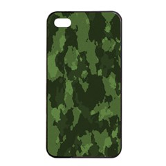Camouflage Green Army Texture Apple Iphone 4/4s Seamless Case (black)
