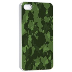 Camouflage Green Army Texture Apple iPhone 4/4s Seamless Case (White)