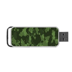 Camouflage Green Army Texture Portable USB Flash (One Side)