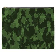 Camouflage Green Army Texture Cosmetic Bag (xxxl)
